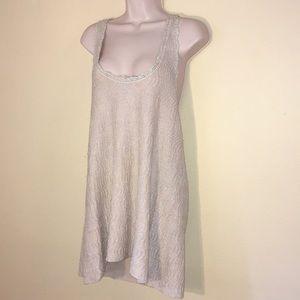 Free People silver sparkle dress pale nude dress.